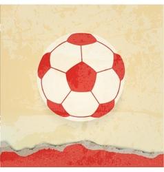 Soccer design retro poster vector image