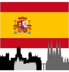 Spanish architecture vector
