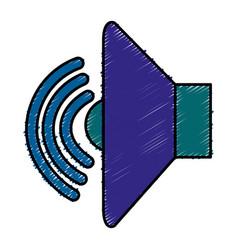 Speaker audio isolated icon vector