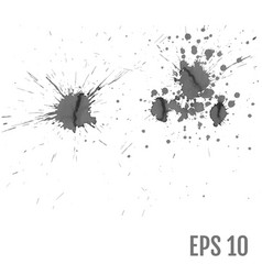 splashes hand made tracing from sketch all vector image