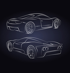 Sport cars silhouette vector