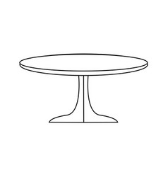 Table wooden round furniture decoration vector