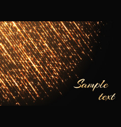 Template with sparkles and golden rays vector