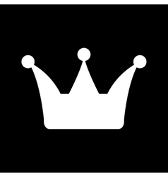 The crown icon Crown symbol vector image