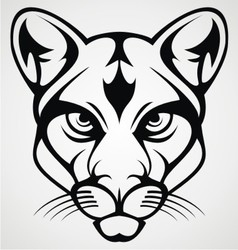 Tiger Head Tattoo Design vector image