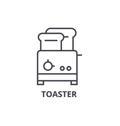toaster line icon outline sign linear symbol vector image