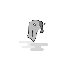 Turkey web icon flat line filled gray icon vector
