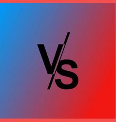 Versus vs letters vector