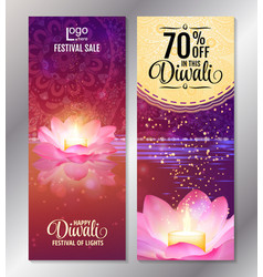 Vertical diwali festival offer poster design vector