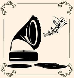 vintage music vector image