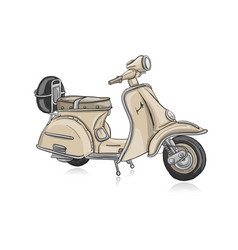 vintage scooter sketch for your design vector image