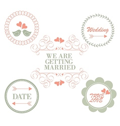wedding vinteage vector image