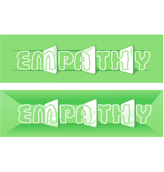 Word empathy green vector