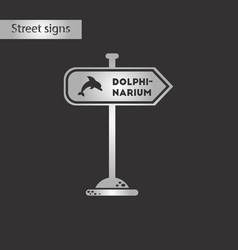 black and white style icon dolphinarium sign vector image