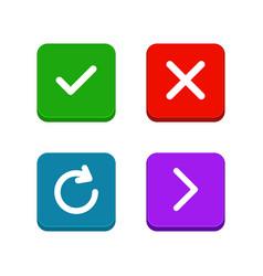 check delete or close refresh arrow icons set vector image vector image
