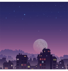 City by Night vector image