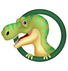 Dinosaur cartoon character vector image