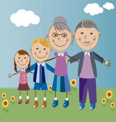 grandparents and grandchildren vector image vector image