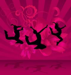 magenta dark dance party vector image vector image