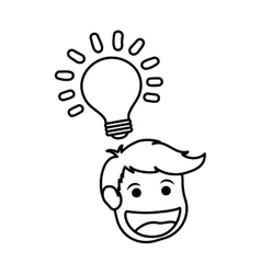 Man head cartoon vector image