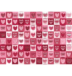 seamless pattern of hearts for valentine day vector image vector image