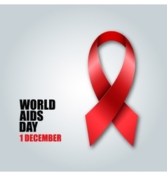 World Aids Day concept Red ribbon vector image vector image