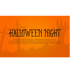 background halloween night style collection vector image
