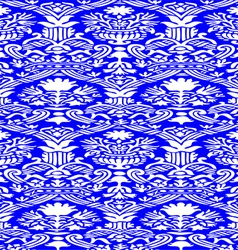 Blue and white Seamless abstract background vector image