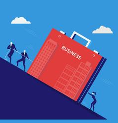 businessmen pulling vector image vector image