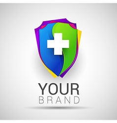 Colorful Medical Secure Logo Creative abstract vector image vector image