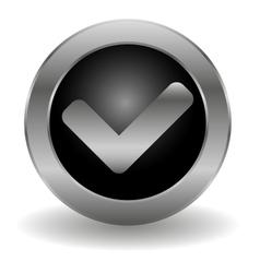 Metallic validation button vector image