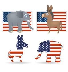 democrat and republican symbols vector image