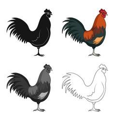 home cockanimals single icon in cartoon style vector image