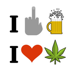 i hate alcohol i like drugs symbol of hatred vector image vector image