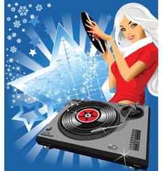 musical snowflake vector image vector image
