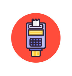 pos terminal point of sale concept payment by vector image vector image