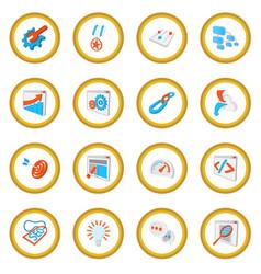 seo 16 cartoon icon circle vector image vector image