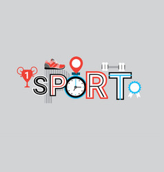 sport competition and training web banner abstract vector image