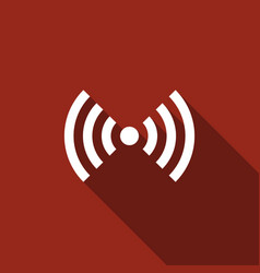 wi-fi network symbol flat icon with long shadow vector image