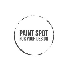 brush round stroke of black paint vector image vector image