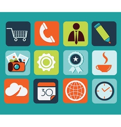 Flat icons for Web and Mobile Applications vector image