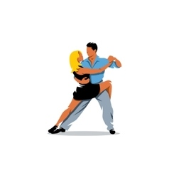 Two elegance tango dancers vector image