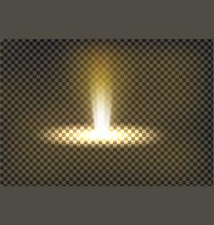 A golden light ray a light vector