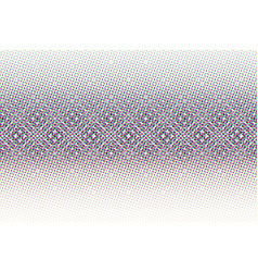 abstract halftone glitched background vector image vector image