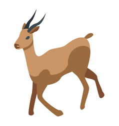 Africa gazelle icon isometric style vector