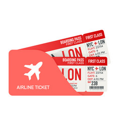 Airline tickets or boarding pass inside of vector