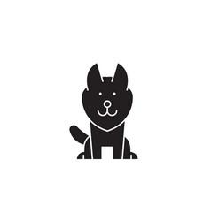 alaskan malamute black concept icon vector image