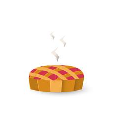 autumn pie icon vector image