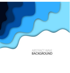 background with blue abstract multilayered wavy vector image