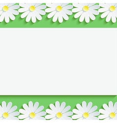 Background with decorative chamomile and paper vector image